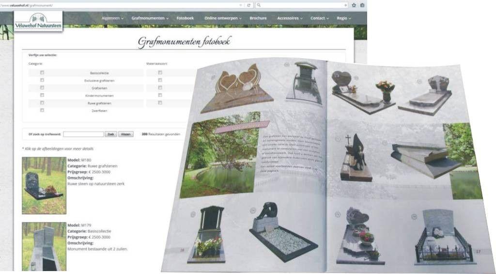 Bekijk meer grafstenen online in ons fotoboek, of vraag onze brochure aan om in alle rust te orienteren