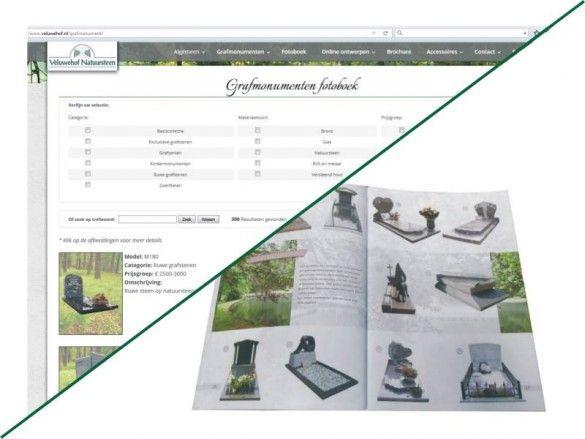 Bekijk meerderen voorbeelden van grafmonumenten online of thuis met onze brochure!