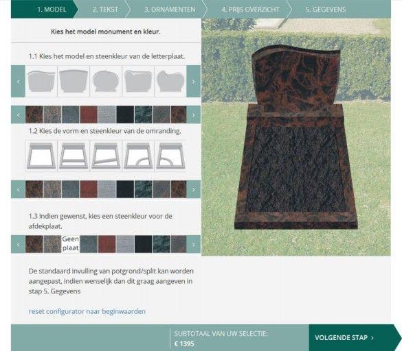 Online grafmonument ontwerpen en bestellen