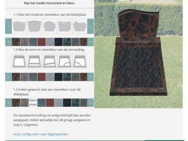 Online grafstenen ontwerpen met onze grafstenen ontwerpprogramma, hiermee kunt u snel en gemakkelijk in 3 eenvoudige stappen het grafmonument samenstellen, door de offerte online aan te vragen bespaart u op kosten.