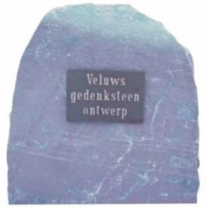 grafsteen tekst bronzen RVS plaat