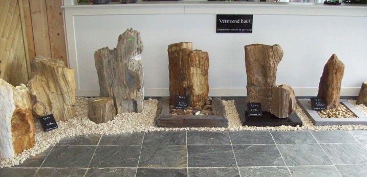 Grafmonumenten versteend hout