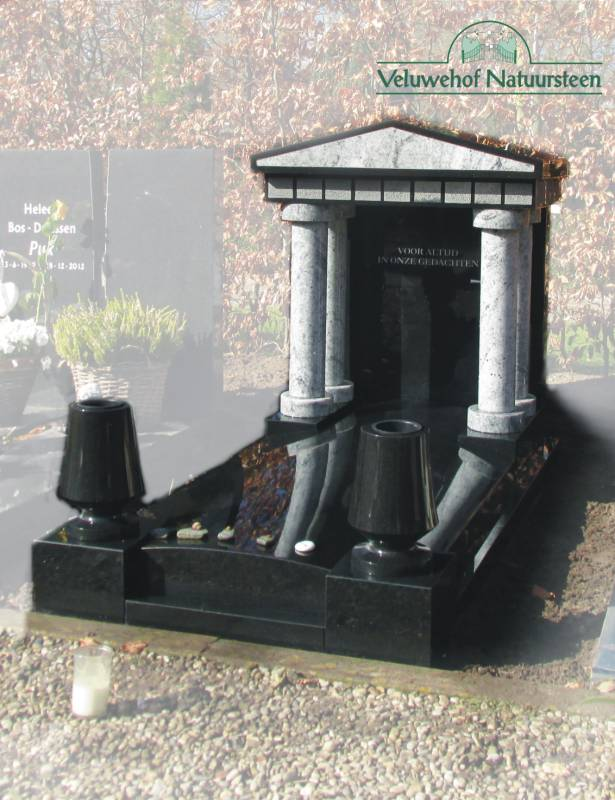 Grafmonument model tempel