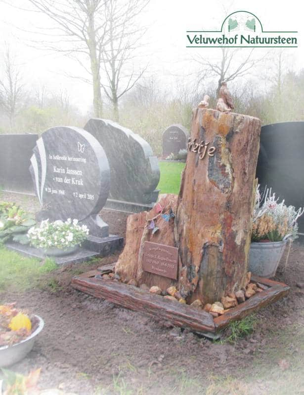 R74 – Grafmonument versteend hout