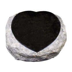 Hart uit gehakt graniet
