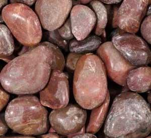 Grafvulling pebbles rood