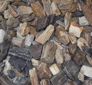 Grafvulling versteend hout