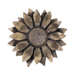 Bronzen zonnebloem
