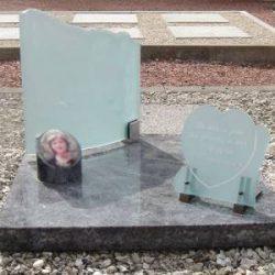 Grafaccessoires foto op grafsteen